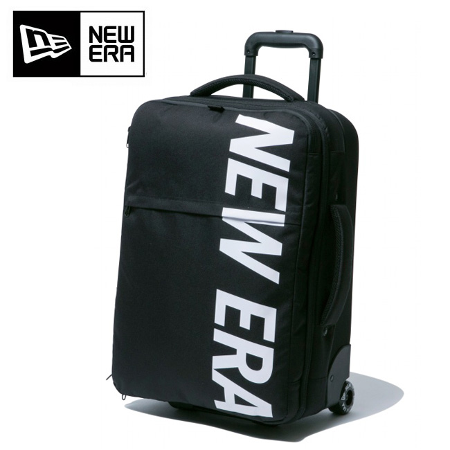 NEWERA ニューエラ WHEEL BAG 900D NEWERA BLK WHI ウィールバッグ プリントロゴ ブラック×ホワイト 11901461 【アウトドア/旅行/カバン】