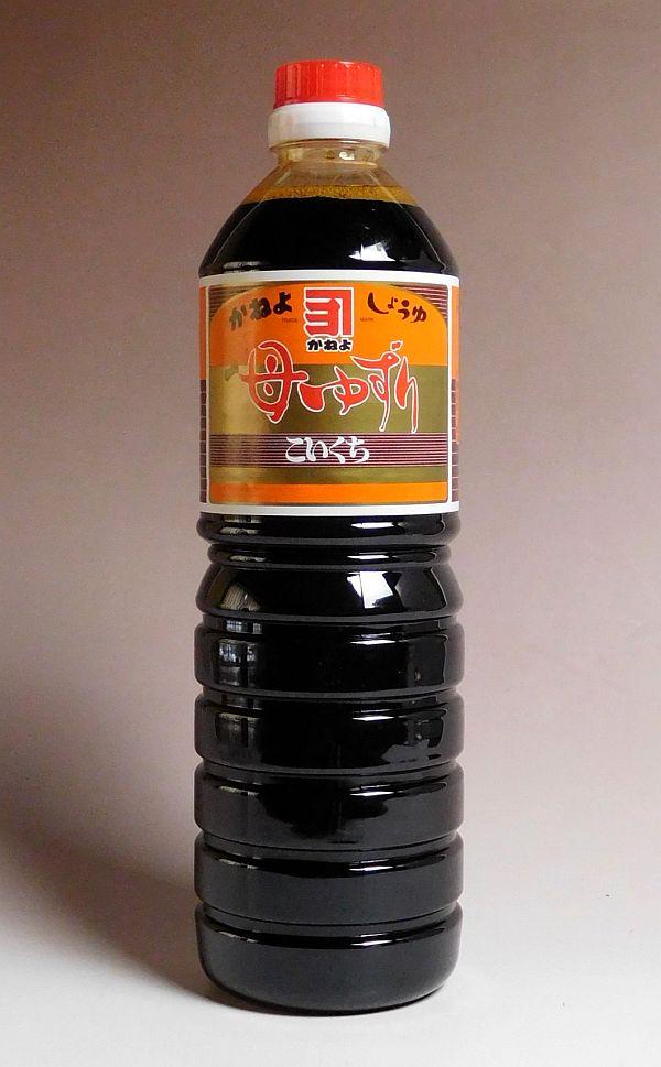 激安通販 鹿児島の甘口醤油です カネヨ母ゆずり濃口醤油1000ml 横山醸造 爆買い送料無料