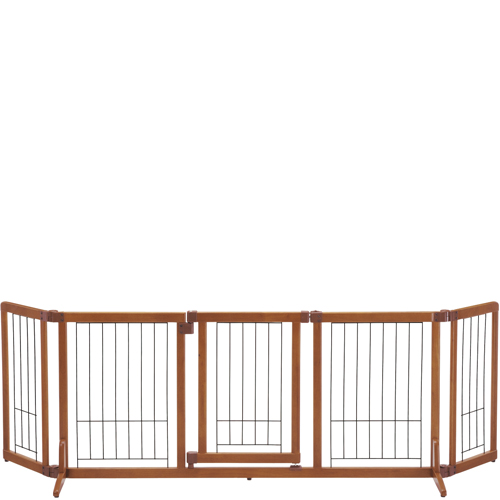 【送料無料】木製おくだけドア付ゲート L