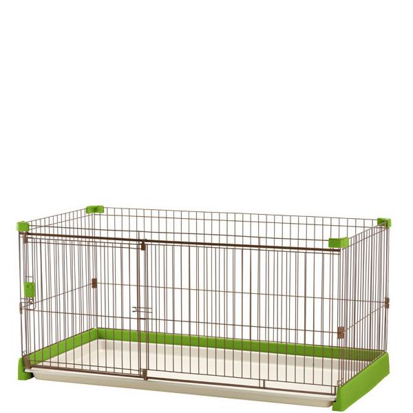 【送料無料】ペット用 お掃除簡単サークル 150-80 グリーン