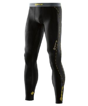 SKINS(スキンズ) DNAMIC メンズ ロング タイツ DK9905001 BKYL(ブラック×イエロー)