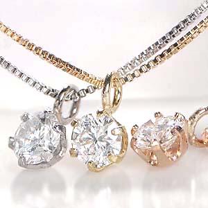 【送料無料】K18WG/YG/PG【0.1ct】一粒 ダイヤモンド ネックレス 0.10 18金 ジュエリー ダイヤネックレス ダイヤモンドペンダント k18 ひと粒 6本爪 ダイヤペンダント 可愛い 人気 ギフト プレゼント 誕生日 母の日