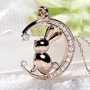 【送料無料】K18PG【0.2ct】ダイヤモンド うさぎ ネックレス 18金 ジュエリー 可愛いネックレス 人気 ウサギ うさぎ ウサギネックレス ダイヤモンドネックレス ダイヤネックレス ダイヤモンドペンダント