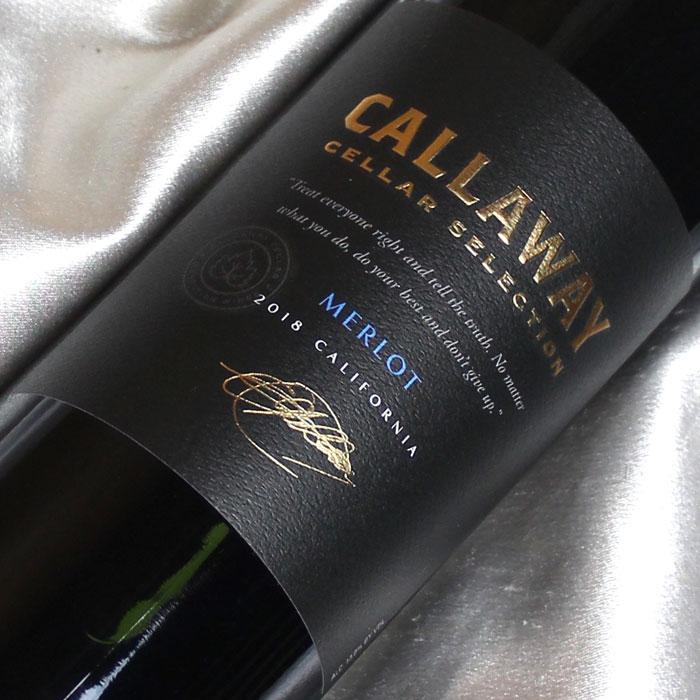 ゴルフクラブで有名なイーリー・キャロウェイのワイナリー キャロウェイ セラー・セレクション メルロー Callaway Cellar Selection Melrot アメリカワイン/カリフォルニアワイン/赤ワイン/フルボディ/750ml