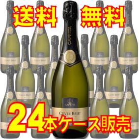 【送料無料】カペッタ ブリュット・スプマンテ ハーフボトル 375ml 24本セット・ケース販売 イタリアワイン/375ml×24【まとめ買い】【ケース売り】【セット】【スパークリングワイン】【シャンパン】【メルシャン】【キリン】