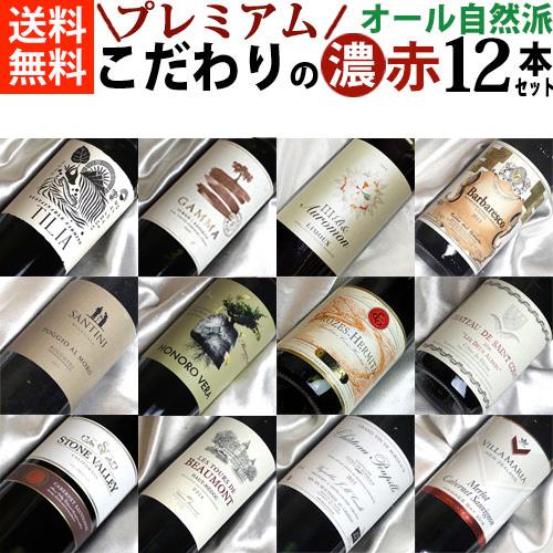 ■□送料無料□■ オール自然派 濃いめのプレミアム赤ワイン12本セット Ver.4 【自然派ワイン ビオワイン 有機ワイン 有機栽培ワイン bio オーガニックワインセット】【赤ワインセット】【 通販 販売】