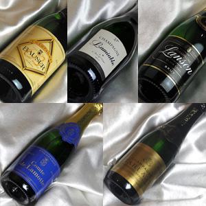 ■送料無料■ シャンパンづくし ハーフボトル5本セット Ver.19 実力派 送料込み【ハーフワインセット】【シャンパン スパークリングワイン セット】【ハーフボトルセット】【 通販 販売】
