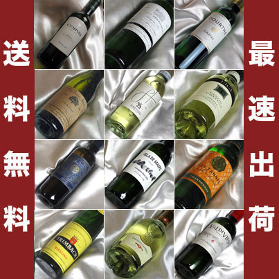 ■□送料無料■□ ハーフボトル白ワインがイロイロ12本飲み比べセット 世界の味が入って送料込み【375ml×12】【ハーフワインセット】【白ワインセット】【 通販 販売】