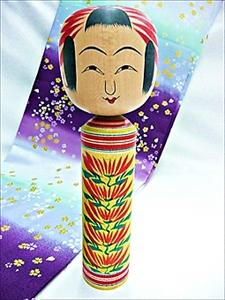 [在肘折花!] 工匠手制传统的肘折日本木偶铃木征一收成8寸