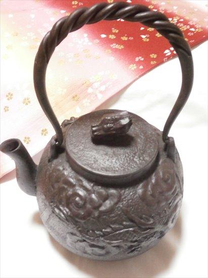 [肘折に花を!] 南部鉄瓶天龍 1.3L