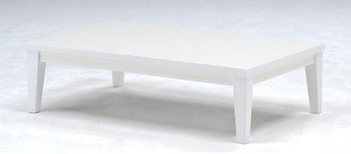 鏡面仕上げのリビングテーブル テレス90RT ホワイト