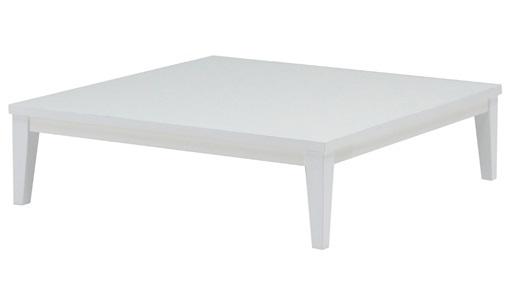 鏡面仕上げの正方形リビングテーブル テレス90SQ ホワイト