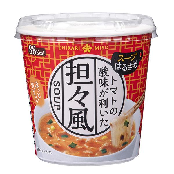 ヘルシーな春雨と、ごま油と味噌のコクのトマト担々風スープ春雨 カップスープはるさめ トマト担々風×6カップ