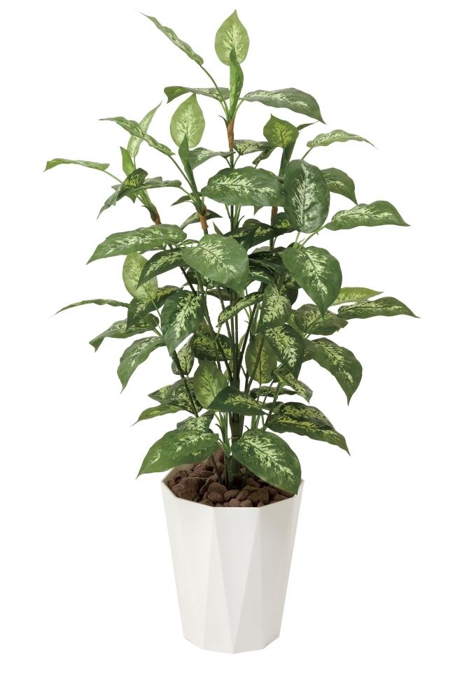 光触媒 光の楽園ディフェンバキア1.1m【インテリアグリーン 人工観葉植物】