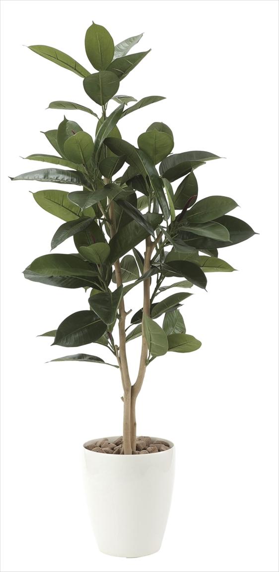 光触媒 光の楽園 ゴムの木1.25m【インテリアグリーン 人工観葉植物】