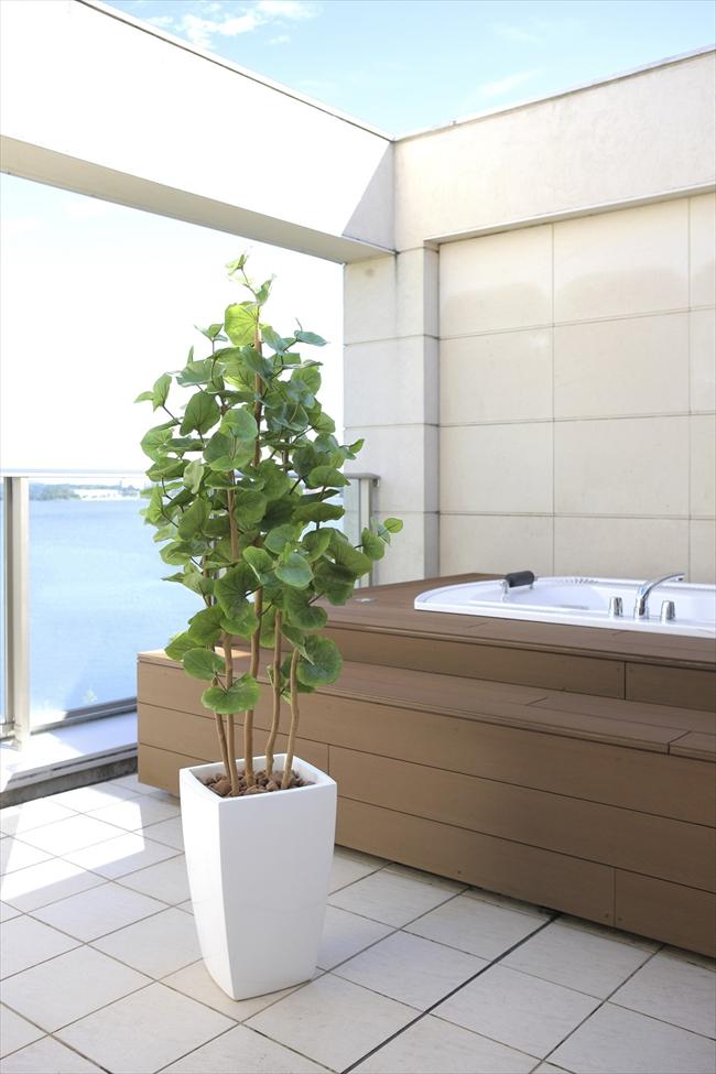 光触媒 大型 人工観葉植物光の楽園 アーバンシーグレープ1.8mおしゃれ インテリア フェイクグリーン