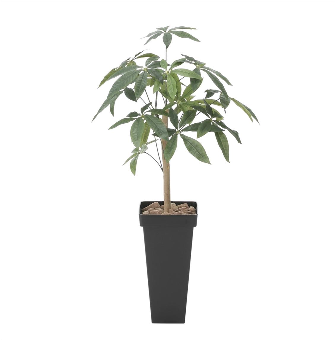 光触媒 人工観葉植物光の楽園 スリムパキラ1.0mインテリア フェイクグリーン
