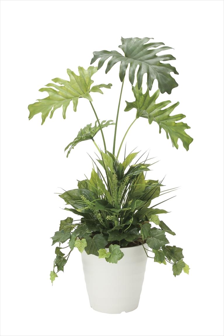 光触媒 人工観葉植物光の楽園 スプリット90 植栽付インテリア フェイクグリーン