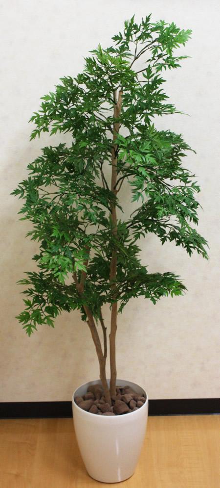 光触媒 人工観葉植物光の楽園 ポリシャス 高さ1.3m【フェイクグリーン 人工観葉植物 インテリア 大型】