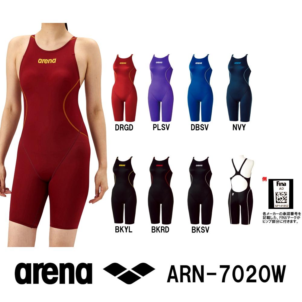 アリーナARENAfina承認競泳水着レディースハーフスパッツクロスバックオールインワンX-PYTHON2スイムウェアARN-7020W