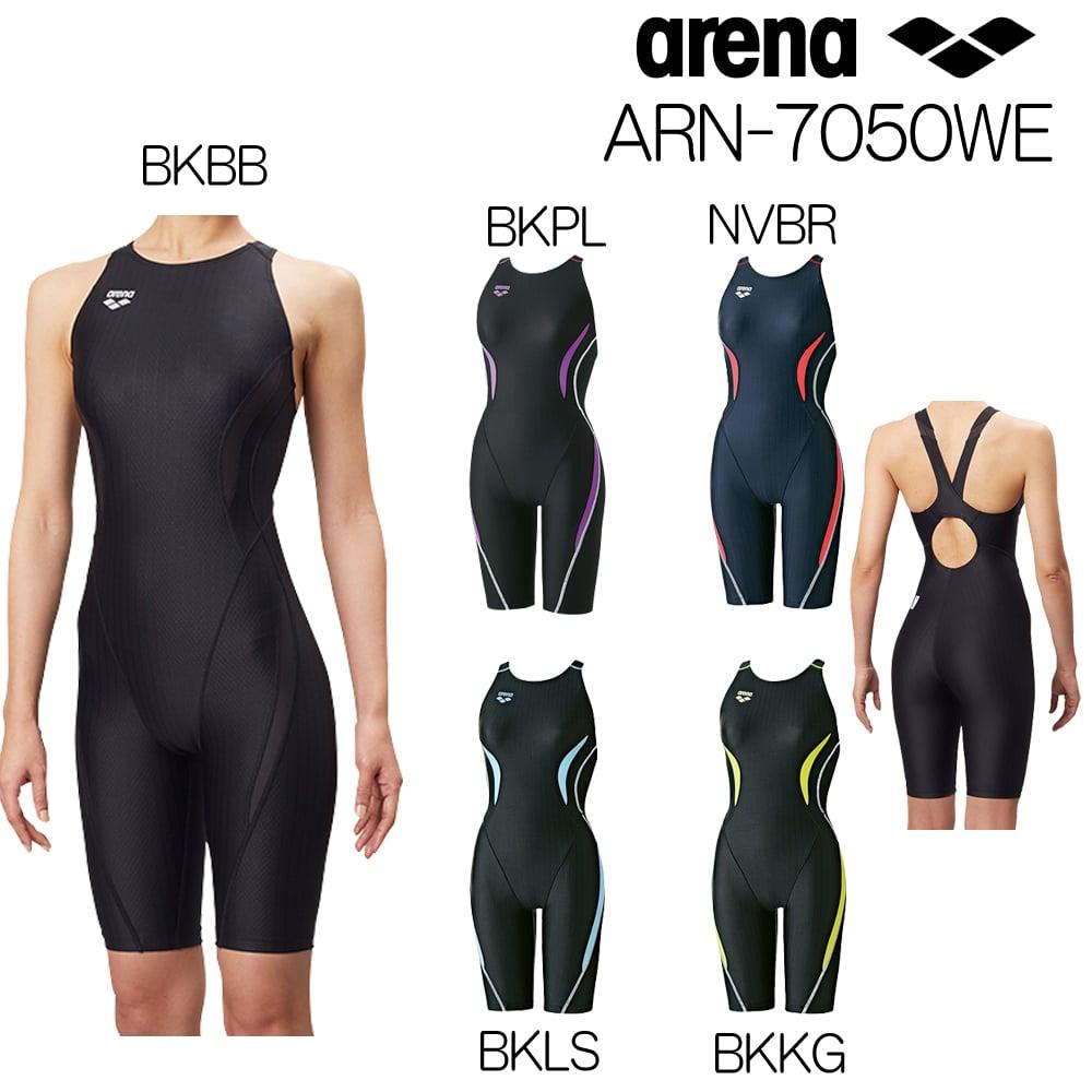 アリーナ ARENA 競泳水着 レディース セイフリーバックスパッツ 着やストラップ 大きいサイズ UROKO SKIN ST [Fina承認モデル] 女性用 ARN-7050WE