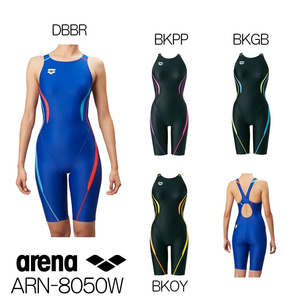 アリーナ ARENA 競泳水着 レディース セーフリーバックスパッツ(着やストラップ) fina承認 UROKO SKIN ST ARN-8050W