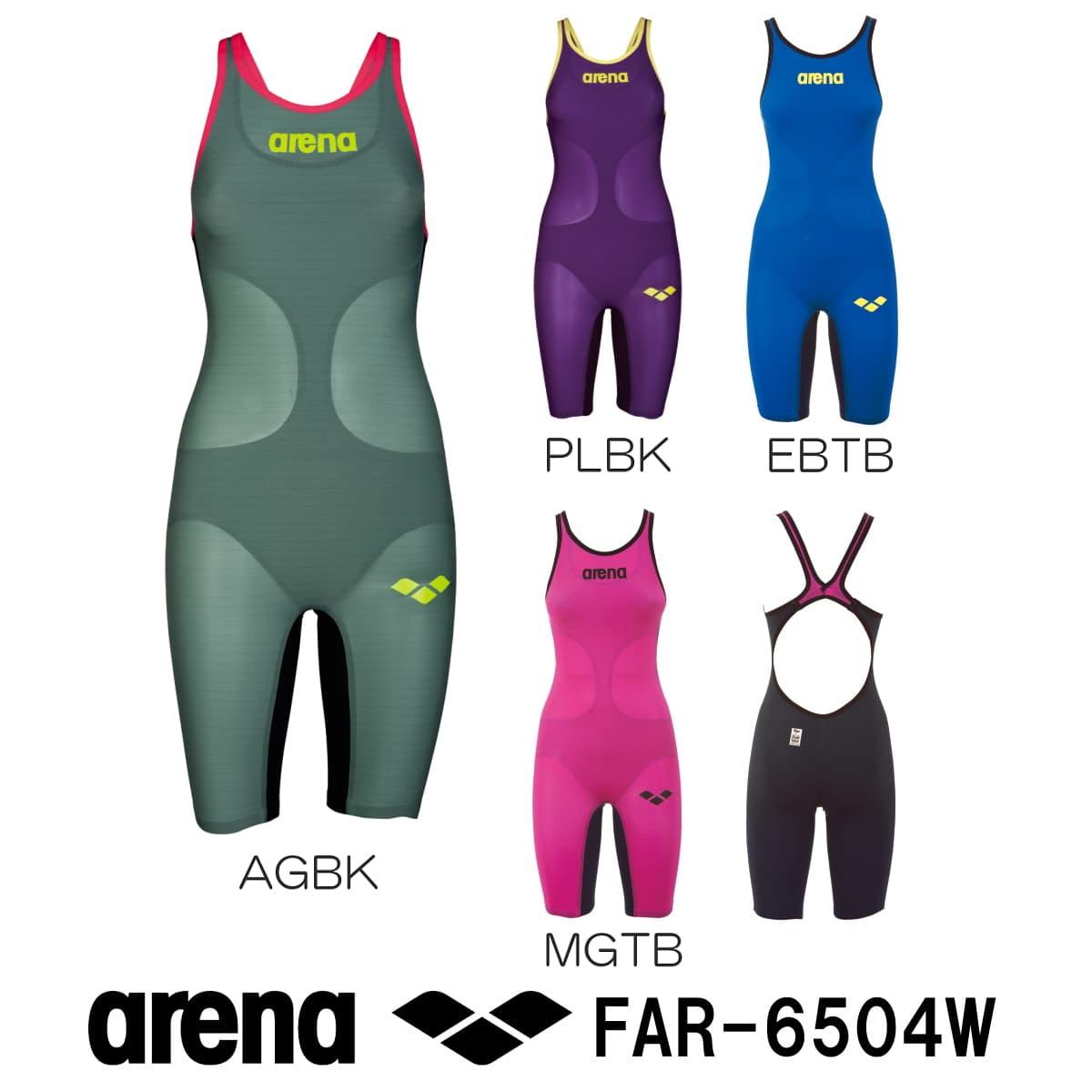 【期間中エントリー5倍&クーポン配布中】アリーナ ARENA 競泳水着 レディース ハーフスパッツオープンバック fina承認 POWERSKIN CARBON-AIR(パワースキン カーボン・エア) FAR-6504W
