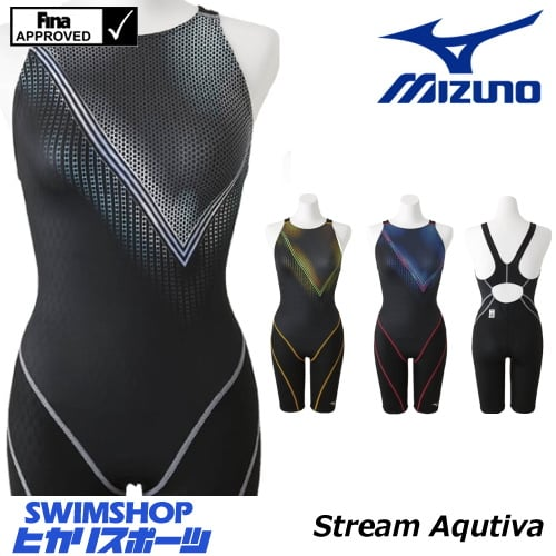 ミズノ MIZUNO 競泳水着 レディース fina承認 ハーフスーツ(オープン) Stream Aqutiva ストリームフィット 2018年秋冬モデル N2MG8747