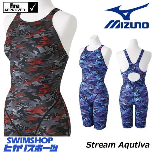 ミズノ MIZUNO 競泳水着 レディース fina承認 ハーフスーツ(オープン) Stream Aqutiva ストリームフィット2 2018年秋冬モデル N2MG8748