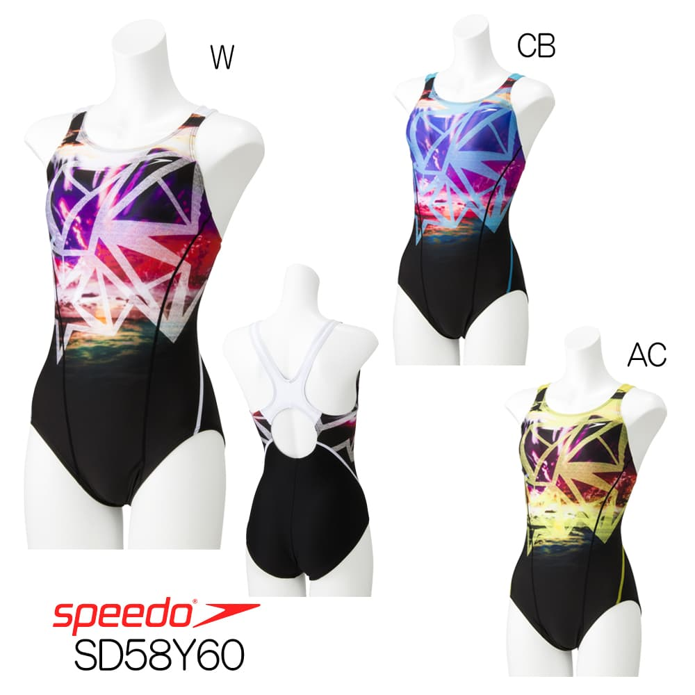 スピード SPEEDO 競泳水着 レディース スーツ 吊りパッド付き Durabright 2018年秋冬モデル SD58Y60