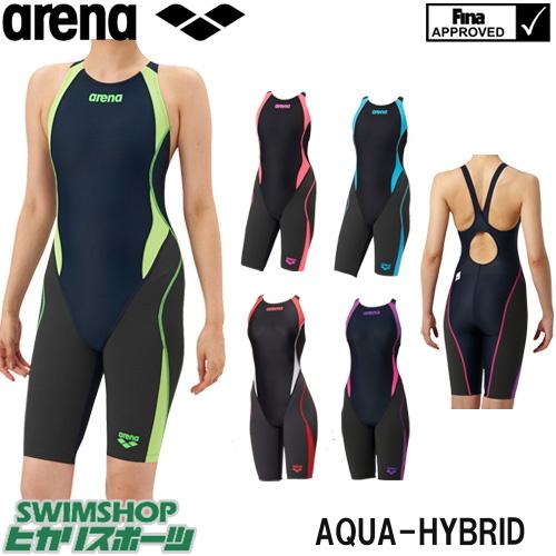 アリーナ ARENA 競泳水着 レディース fina承認 セイフリーバックスパッツ 着やストラップ AQUAHYBRID ARN-8080W