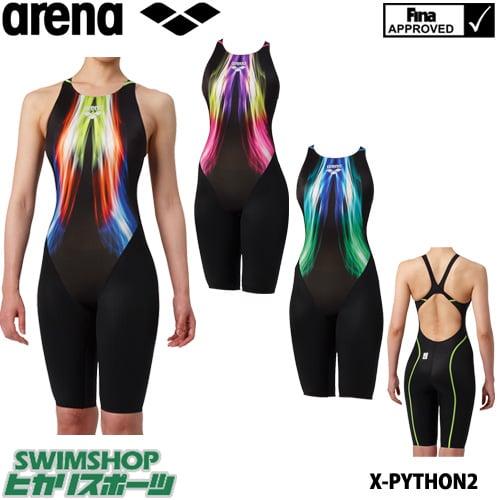 アリーナ ARENA 競泳水着 レディース fina承認 ハーフスパッツ クロスバック X-PYTHON2 2019年春夏モデル ARN-9044W