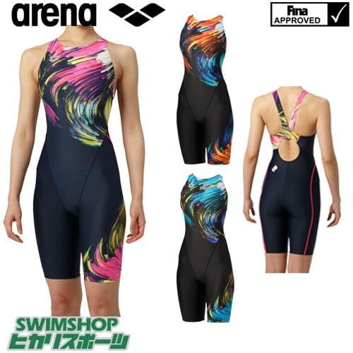 アリーナ ARENA 競泳水着 レディース fina承認 セイフリーバックスパッツ 着やストラップ UROKOSKIN 2019年春夏モデル ARN-9062W