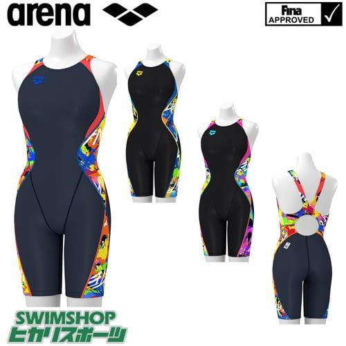 アリーナ ARENA 競泳水着 レディース fina承認 セイフリーバックスパッツ 着やストラップ UROKOSKIN 2019年春夏モデル ARN-9064W