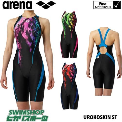 アリーナ ARENA 競泳水着 レディース fina承認 セイフリーバックスパッツ 着やストラップ UROKOSKIN ST 2019年春夏モデル ARN-9067W