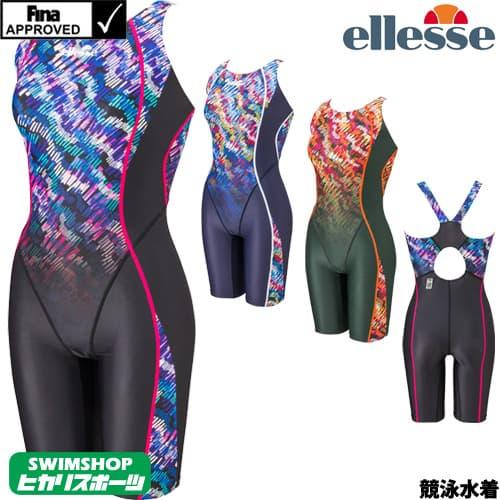 エレッセ ellesse 競泳水着 レディース fina承認 メルカートプリントハイラインFオールインワン シレーナF 2019年春夏モデル ES49102F