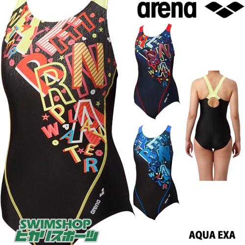 アリーナ ARENA フィットネス水着 レディース サークルバック ぴったりパッド 着やストラップ ダブルエステルWR 2019年春夏モデル LAR-9213W