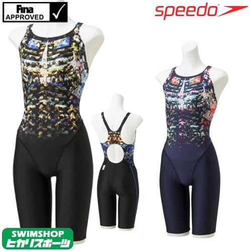 スピード SPEEDO 競泳水着 レディース FINA承認 ウイメンズセミオープンバックニースキン FLEX Σ 2019年春夏モデル SCW11916F