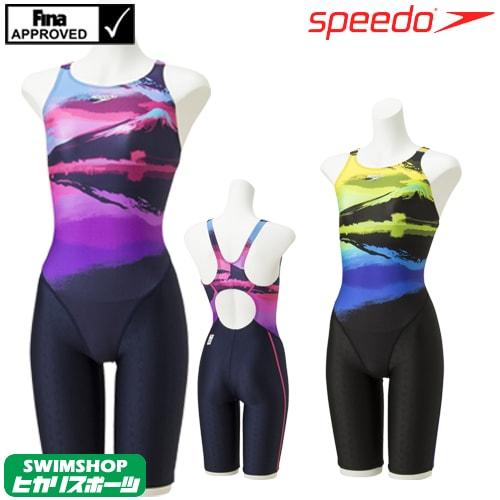 スピード SPEEDO 競泳水着 レディース FINA承認 ウイメンズセミオープンバックニースキン FLEX Σ 2019年春夏モデル SCW11917F