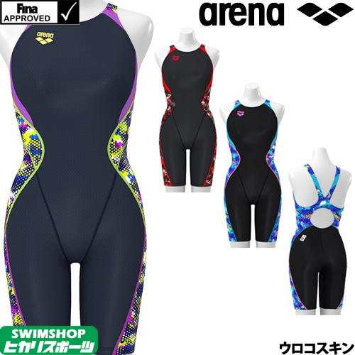 アリーナ ARENA 競泳水着 レディース FINA承認 セイフリーバックスパッツ(着やストラップ) UROKOSKIN 2019秋冬モデル FAR-9564W