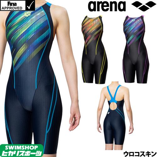 アリーナ ARENA 競泳水着 レディース FINA承認 セイフリーバックスパッツ(着やストラップ) UROKOSKIN ST 2019秋冬モデル FAR-9567W