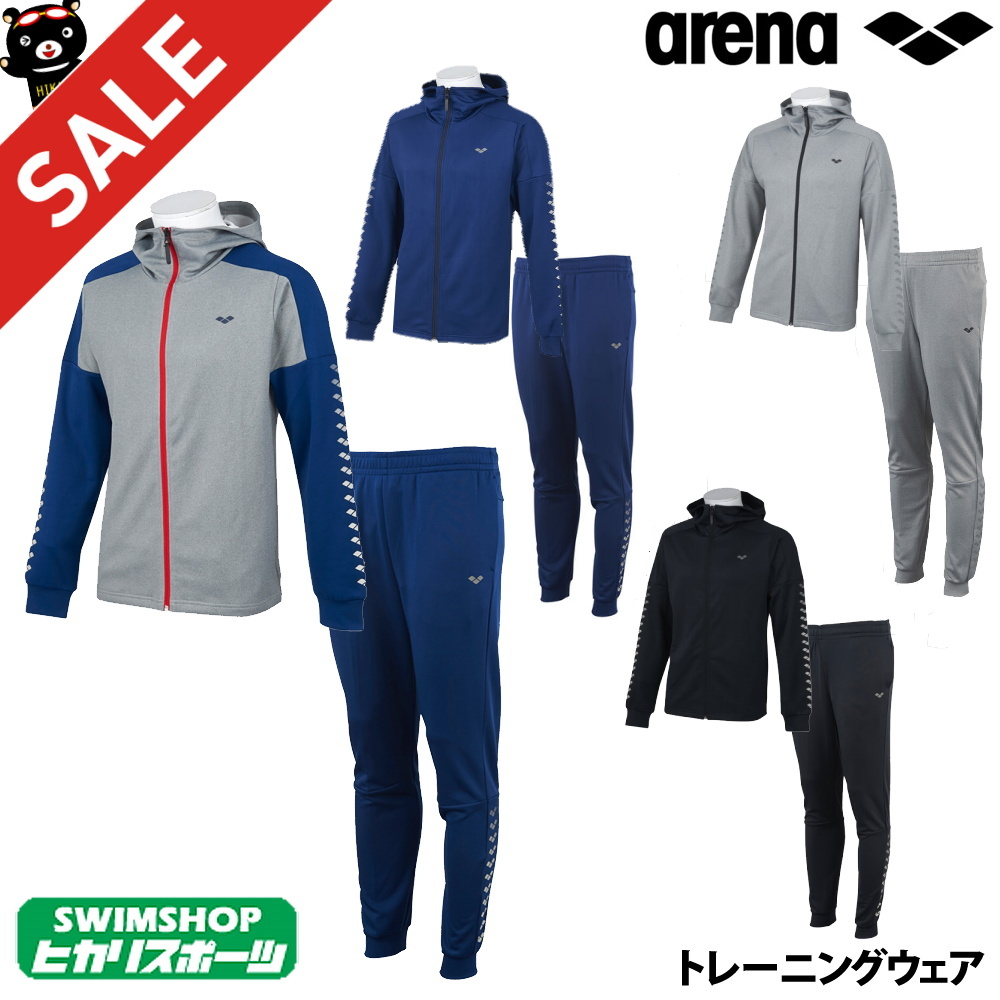 【上下組】ARENA フードジップジャケット×ジョガーパンツ フラットストレッチ AMUOJF22JG22