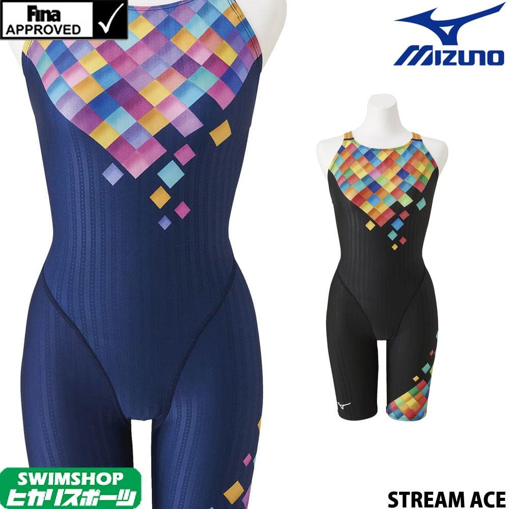 【クーポン利用で更にお値引き】ミズノ MIZUNO 競泳水着 レディース fina承認 ハーフスーツ(マスターズバック) STREAM ACE ストリームフィットA 2020年春夏モデル N2MG0250