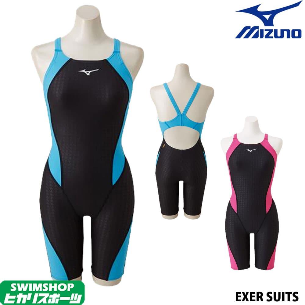 ミズノ MIZUNO 競泳水着 レディース 練習用水着 エクサースーツ ハーフスーツ U-Fit 競泳練習水着 N2MG8279
