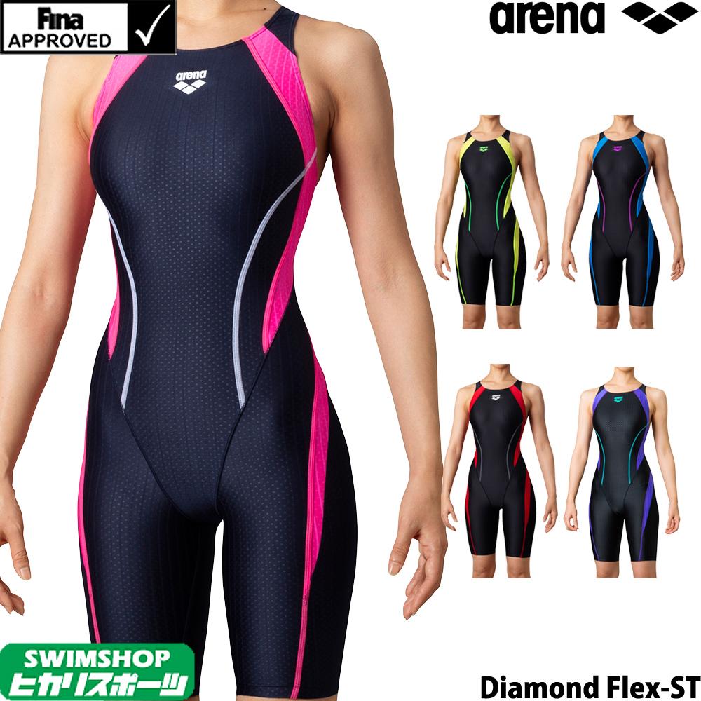 初級スイマーへ向けたAQUA RACINGシリーズ 塩素に強く長持ちし はっ水加工でシャープな水切れが特徴の水着です 競泳水着 レディース 女性用 FINA承認 XOサイズ有り 爆買いセール ARN-0053W Flex-ST fina承認 着やストラップ アリーナ ストア セイフリーバックスパッツ ARENA クーポン利用で更にお値引き Diamond