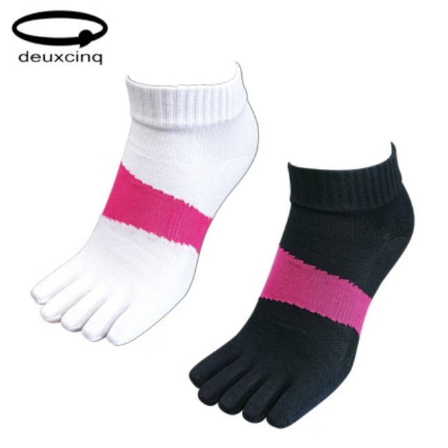 ランニングやマラソン あらゆるスポーツのパフォーマンスアップが期待できる ソックス 靴下 スポーツ 女性用 5本指ソックス DEUXCINQ レディース DUX-0764 激安特価品 ドゥサンク 訳あり商品