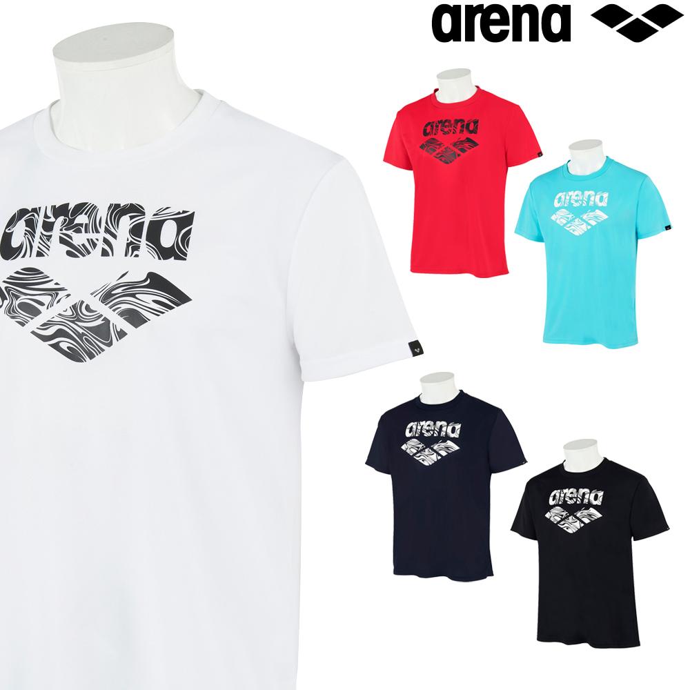 アリーナ 激安超特価 予約 スポーツアパレル ウェア トレーニング クーポン利用で更にお値引き ARENA バックメッシュ AMURJA52 2021年秋冬モデル メンズ Tシャツ