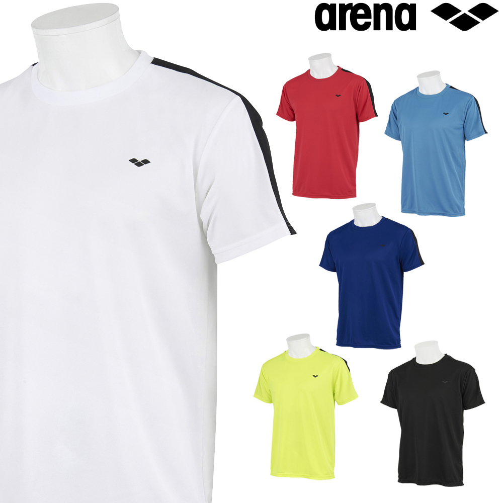 公式ショップ アリーナ スポーツアパレル ウェア トレーニング クーポン利用で更にお値引き ARENA Tシャツ AMUSJA54 メンズ バックメッシュ 2021年秋冬モデル マート