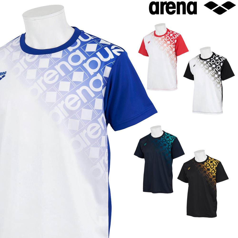 アリーナ スポーツアパレル ウェア 高級 トレーニング クーポン利用で更にお値引き ARENA バックメッシュ Tシャツ メンズ AMUSJA55 2021年秋冬モデル 情熱セール