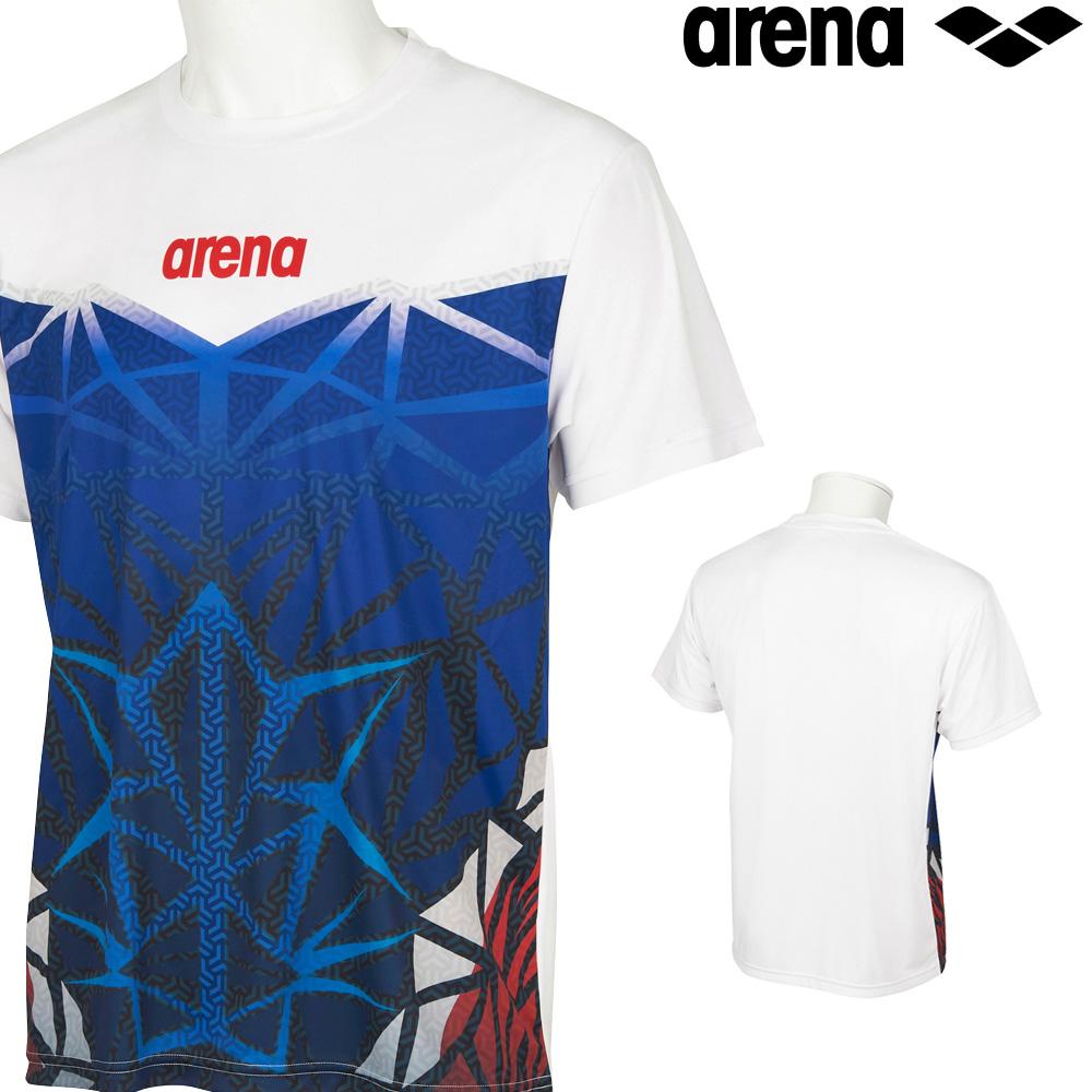 至上 アリーナ スポーツアパレル ウェア トレーニング 最安値に挑戦 クーポン利用で更にお値引き ARENA ファインスムース メンズ BISHAMON 2021年秋冬モデル Tシャツ AMUSJA62JN